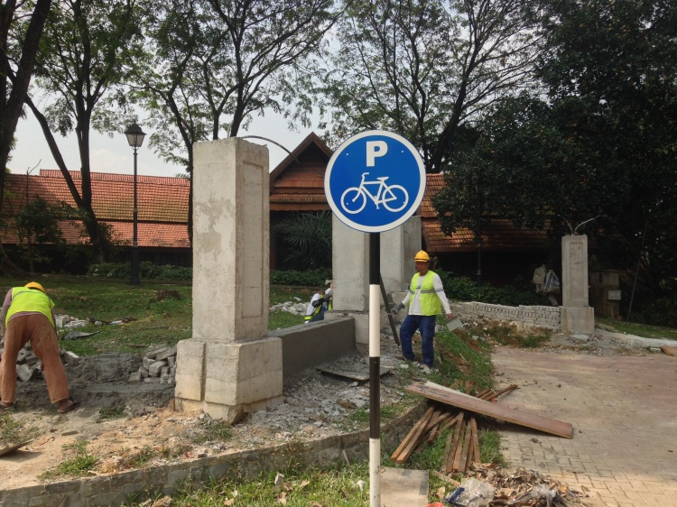 Bicycle Parking areas under construction