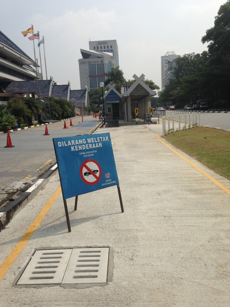 MBSA reminders for cars not to park on the bike lane