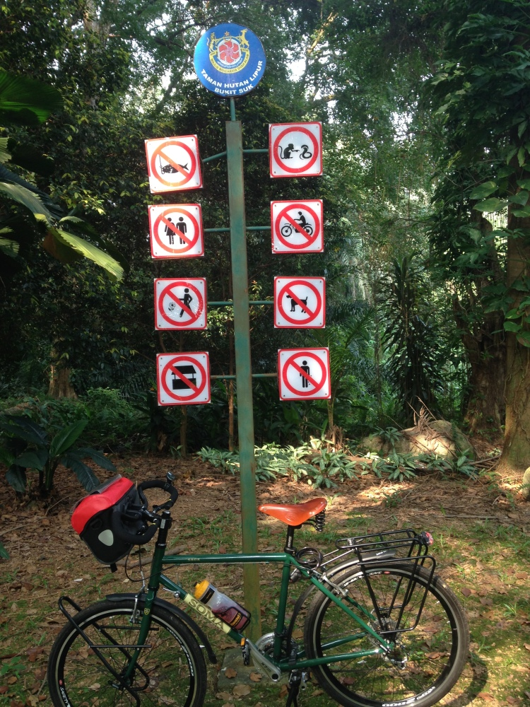 The do's and don'ts in the park