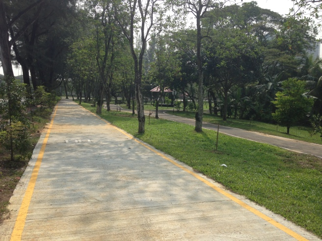 The bake path is smooth, even surface and wide enough for bike traffic from both direction