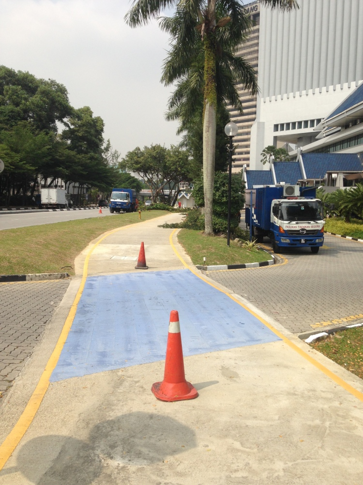 Intersections are marked in blue, watch out for traffic
